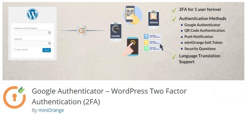WordPress Security - Google Authenticator